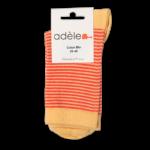 """Socquettes  en coton bio GOTS """"Paille & corail"""""""