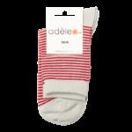 Socquettes hautes en coton bio  Perle & Rouge