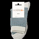 Socquettes hautes en coton bio Perle & Canard