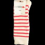 """Chaussettes en bouclettes de coton biologique """"Naturel & Corail"""""""