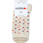"""Socquettes hautes""""Naturel étoilé"""" en coton bio"""